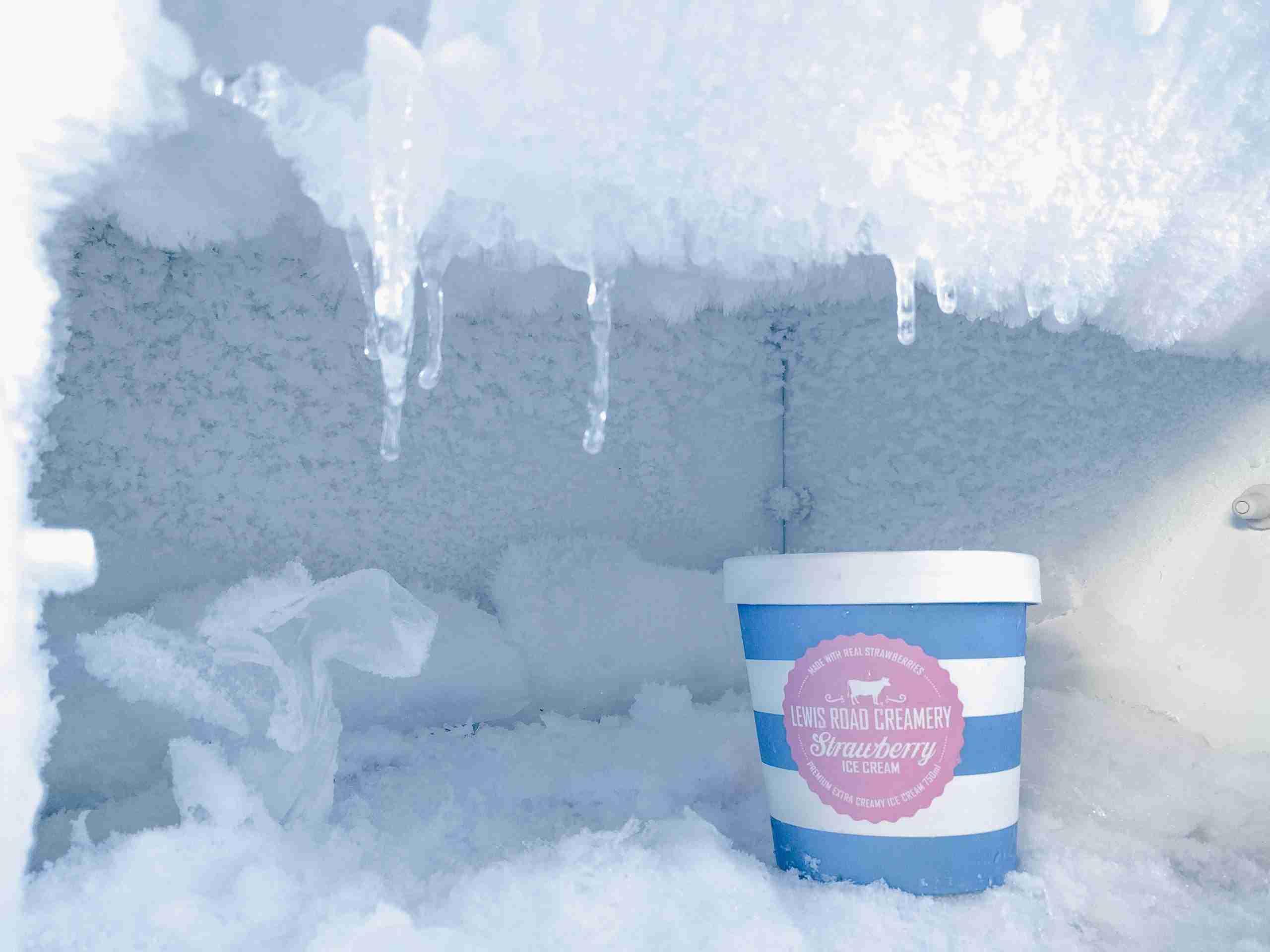 Ice cream in a freezer