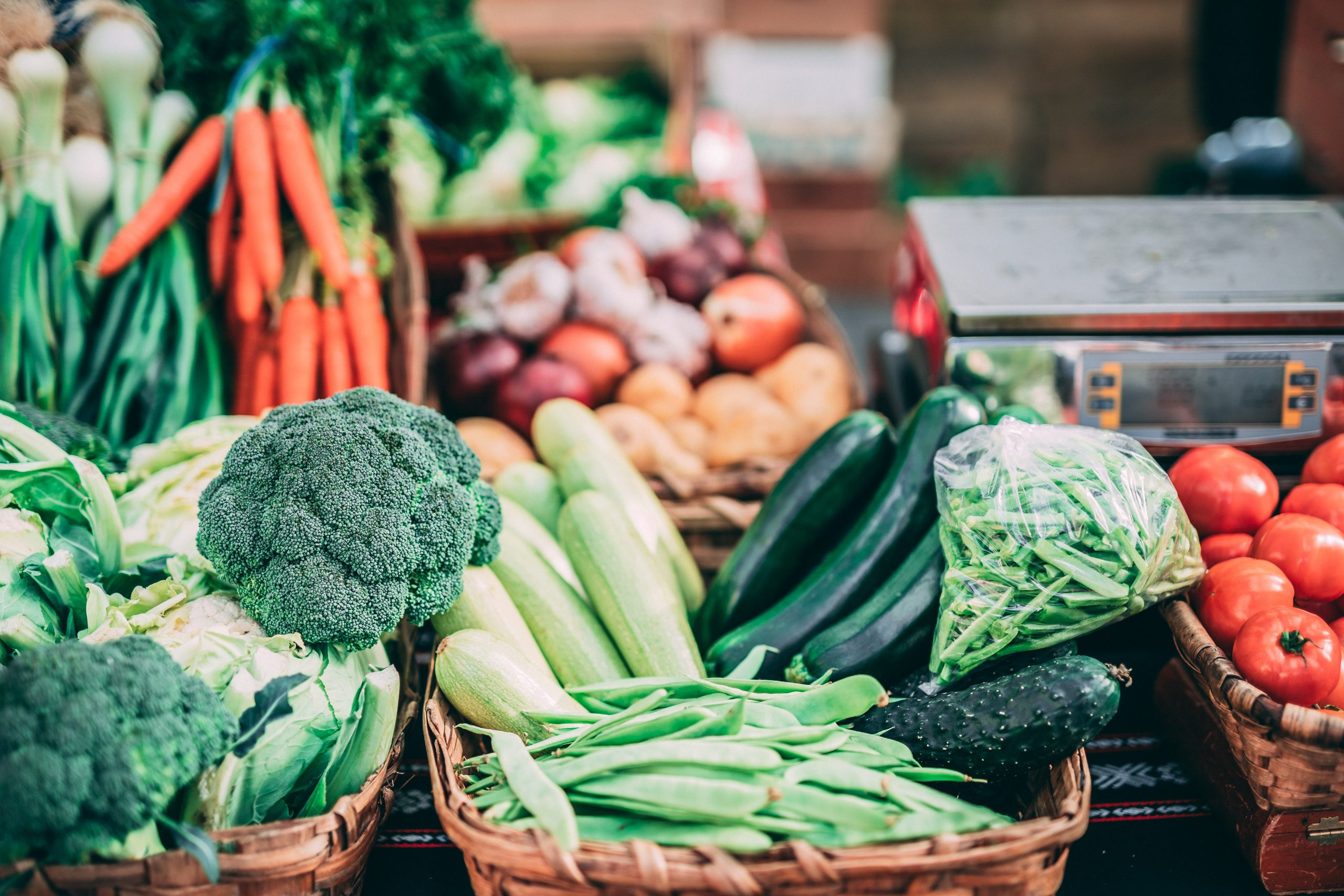 Table of vegetables.
