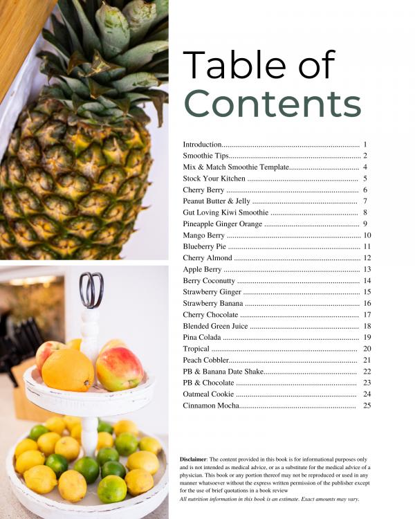 Smoothie e-book